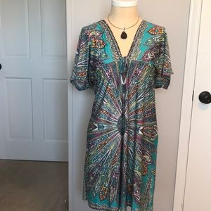 Other - Bohemian print beach dress or cover up.